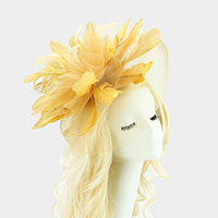 Derby Tea Statement Double Mesh Fascinator / Headband