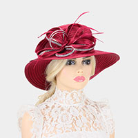 Bling Stone Trim Lopped Bow Braid Hat