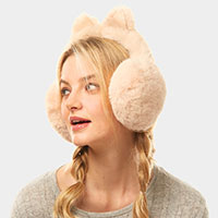 Solid Color Cat Ear Faux Fur Earmuffs