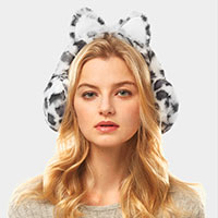 Leopard Cat Ear Faux Fur Earmuffs