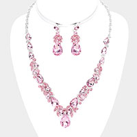 Teardrop Crystal Rhinestone Vine Necklace
