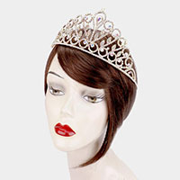 Rhinestone Pave Statement Teardrop Pageant Princess Tiara