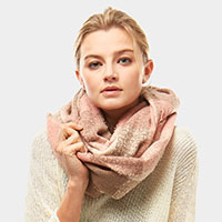Plaid Boucle Infinity Scarf