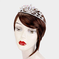 Rhinestone Pave Statement Teardrop Princess Tiara