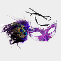 Peacock Feather Venetian Masquerade Mask