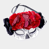 Day Of the Dead Flower Eye Mask