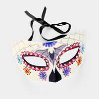 Day Of the Dead Floral Spider Eye Mask