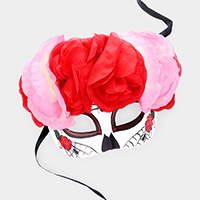 Day Of the Dead Spider Flower Halloween Eye Mask