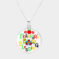 Teacher's Blessing Pendant Necklace