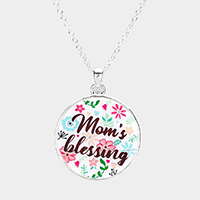 Mom's Blessing Pendant Necklace