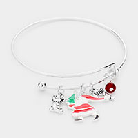 Christmas Theme Charm Adjustable Bracelet