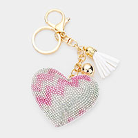 Multi Color Heart Tassel Key Chain