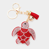 Multi Color Turtle Tassel Key Chain