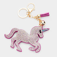 Multi Color Unicon Tassel Key Chain