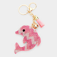 Multi Color Dolphin Tassel Key Chain