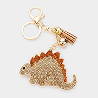 Multi Color Dinosaur Stegosaurus Tassel Key Chain