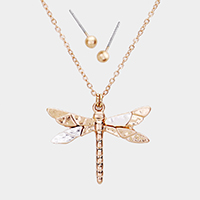 Dragon Fly Metal Pendant Necklace