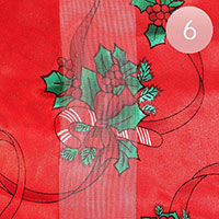 6PCS - Silk Feel Christmas Pattern Print Scarf