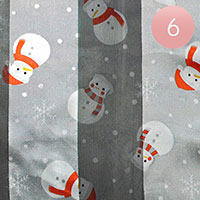 6PCS - Silk Feel Snowman Pattern Print Scarf