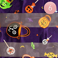6PCS - Silk Feel Halloween Pattern Print Scarf