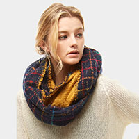 Multi Color Windowpane infinity Scarf