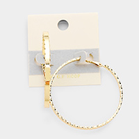 14K Gold Filled Twist Hoop Metal Earrings