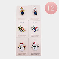 12PCS - Christmas Pin Brooches
