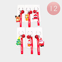 12PCS - Christmas Cute Characters Love Key Chains