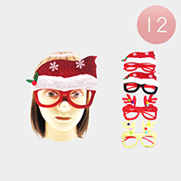 12PCS - Christmas Themed Party Glasses