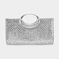 Crystal Rhinestone Embellished Evening Handbag / Clutch