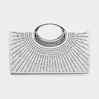 Crystal Rhinestone Embellished Evening Clutch / Handbag