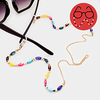 Colorful Acrylic Metal Bead Glasses Chain