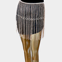 2Ways - Rhinestone Statement Fringe Belt / Body Chain