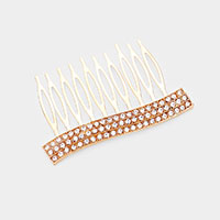 Round Rhinestone Statement Crystal Hair Comb