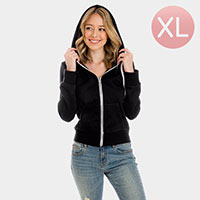 Black Zip Up Hoodies Sweater