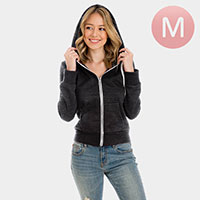 Charcoal Zip Up Hoodies Sweater