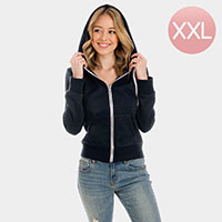 Navy Zip Up Hoodies Sweater