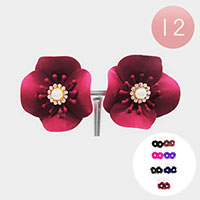 12PCS - Bloom Flower Stud Earring