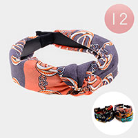 12PCS - Vintage Pattern Knot Headbands