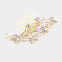 Rhinestone Crystal Sprout Hair Comb