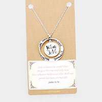 John 3:16 Religious Pendant Long Necklace