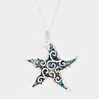 Starfish Filigree Pendant Long Necklace