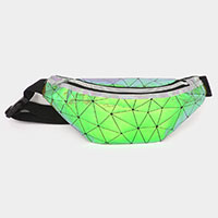 Metallic Triangle Fanny Pack