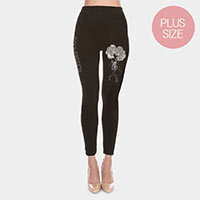 Bling Bling Women Face Plus Size Leggings