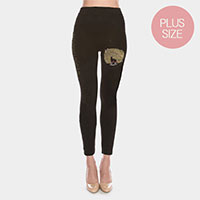 Bling Bling Women Face Leggings