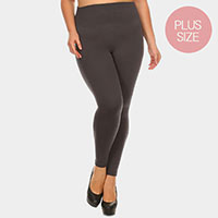 Full Length Seamless Fleece Plus Size Leggings