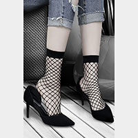 Mesh Black Fishnet Ankle Fashion Socks