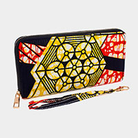 Abstract Pattern Zipper Wallet