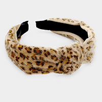 Leopard Pattern Knotted Head Band