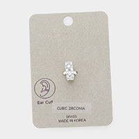 Brass Cubic Zirconia Ear Cuff